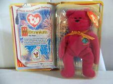 Vintage 1999 Beanie Babies Ronald McDonalds Purple Millennium Bear 1 & Up
