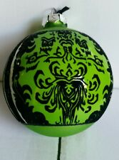 Disney Parks WDW Disneyland HAUNTED MANSION Green Wallpaper Christmas Ornament