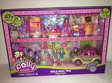 Polly Pocket Playset Glitz and Glam Pets SUPERSET 2007 RARE 3 sets in 1 NIB