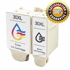 2PK Black Color #30 30XL Ink For Kodak ESP Office 2150 2170 Hero 5.1 3.2 Printer