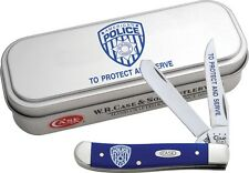 CASE XX KNIFE - NEW ITEM - POLICE MINI TRAPPER  - COLOR ARTWORK - GIFT TIN