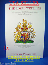 OFFICIAL ROYAL WEDDING KATE & WILLIAM PROGRAM 27pg, REAL DEAL!!