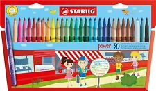 30 x STABILO FELT TIP PENS in Wallet 30 Assorted Colours