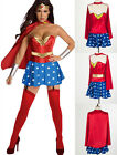 WONDER WOMAN SUPER HERO COSTUME HEN PARTY FANCY DRESS Corset Top Skirt 5PCS SET