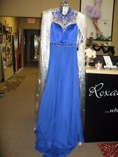 Sherri Hill 32144 Royal Blue Stunning Prom Pageant Gown Dress sz 2