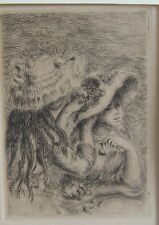 Renoir original etching Le Chapeau Epingle 3rd Version