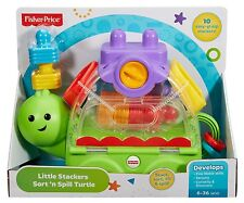 FISHER PRICE LITTLE STACKERS SORT N SPILL TURTLE DEVELOPMENTAL TOY CMY20 *NEW*