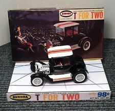 AURORA T FOR TWO  CAR HOT ROD 1/32ND MODEL KIT STORE DISPLAY BASE ONLY NO BOX