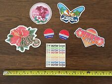 ROXY Sticker Collection LOT of 7 Love Surfer Boys Butterfly HI RARE and VINTAGE