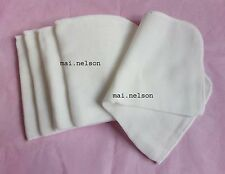 NEW! 5 mini 100% COTTON MUSLIN square CLOTHs BABIES Kids Children WEANING times