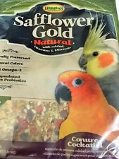 Higgins Safflower Gold Natural Conure Cockatiel Food Mix for 3lb minerals vitami