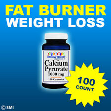 Calcium Pyruvate 1000mg 100 caps Max. Strength Herb Fast Weight Loss Fat Burner