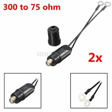 2x TV Antenna Outdoor Balun 300 To 75 Ohm Cable Matching Transformer UHF/VHF/FM