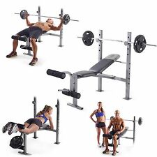 Weight Lifting Bench Press Body Workout Adjustable Fitness Equipment Gold's Gym
