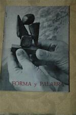 "Forma y Palabra (Shape & Word) by Libero Badii 1964 Paperback Book 5-1/4"" x 7"""