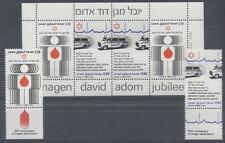 CROIX ROUGE SANTÉ Israel 2 val 1 bloc de 1980 ** - RED CROSS ROTES KREUZ