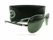New Ray-Ban Tech Sunglasses RB 8301 Carbon Fibre 131 Men's Aviator Authentic