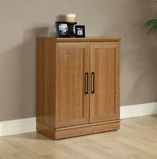 Storage Cabinet with Doors Laundry Kitchen Pantry Organizer Stackable Oak New