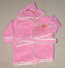 ADORABLE! KOALA BABY HOODED BATHROBE 0-9M PINK OCTOPUS