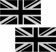 "Britain Union Jack Subdued Flag Decal SET 5""x3"" British Vinyl Sticker great UK"