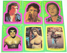 Incredible Hulk TV Series 22 Sticker set by Topps in 1979.