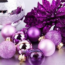24Pcs Large Glitter Christmas Balls Baubles Xmas Tree Hanging Ornament Decor New