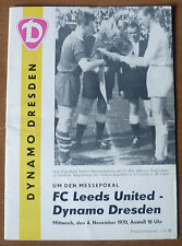 Dynamo Dresden v Leeds United, 1970/71 - Fairs Cup, 2nd Round *Rare* Programme.