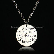 No Longer By My Side But Forever In My Heart Round Pendant Necklace Party Gifts
