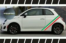 Fiat 500 Rally Turbo Panel Decals Side Checkered Rocker Stripes Italy Flag Fiat