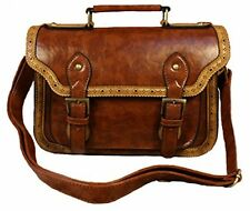 Women's Synthetic Vintage Leather Retro Messenger Bags Satchel Handbag