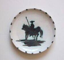 "Authentic Picasso Signed ""Picador"" 1952 Madoura Ceramic Plate with Provenance"