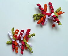 Gymboree Girls Curly Clips x 2 (Orange, Green, White and Ceris ), Brand New