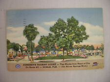 VINTAGE LINEN POSTCARD VIEW OF CORDREY'S TOURIST COURT IN OCALA FLORIDA 1949