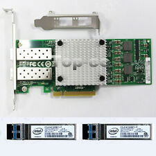 BCM57810S 10GB SFP+ PCIe x8 Server Adapter & Intel Singlemode (1310nm) module