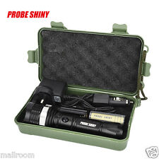 6000LM CREE XM-LT6 LED Focus Flashlight Torch Zoom+18650+Car charger UKB UK
