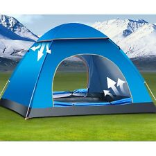 4 Person Family Waterproof Instant Pop Up Tent Camping Beach Shelter Canopy