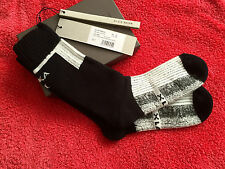 NASKA S/S 12 NEW IN BOX RICK OWENS BLK/WHITE COTT. BLEND SPORT SOCKS M/ITALY S