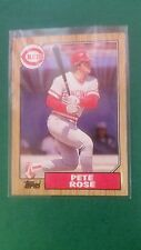 PETE ROSE 1987 TOPPS ( LAST PLAYER YEAR STATS ) CARD #200 CINCINNATI REDS