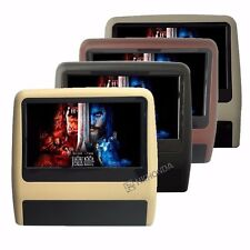 """2Pcs 9"""" Inch HD TFT Screen Car Headrest one DVD Player SD MP3 + one monitor"""