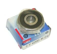 BRAND NEW IN BOX ORS SINGLE ROW BEARING 10MM X 30MM X 9MM 6200 2RS C3 (3 AVAIL)