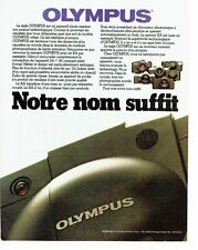 PUBLICITE ADVERTISING 0217  1981  Olympus  appareil photo gamme XA