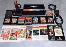 Atari 2600 Junior Jr Video Game Console w/ 9 Cartridges & Joystick Clean Tested