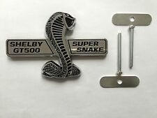 ONE NEW MUSTANG SHELBY GT500 COBRA SVT SUPER SNAKE GRILL EMBLEM WITH HARDWARE