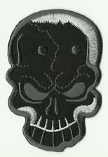 ECUSSON PATCH THERMOCOLLANT SKULL BIKER TETE DE MORT 9,5 X 6 CMS