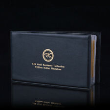 WR Note Album Zimbabwe Full Set 24k Gold Banknote $10-100 Trillion Dollar Series
