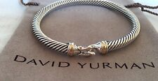 David Yurman 18K Yellow Gold & Sterling 5mm Cable Classics Buckle Hook Bracelet