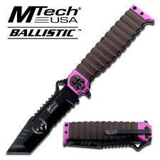 MTECH Rescue Modified Tanto Black Spring Assisted Open Tactical Pocket Knife NEW