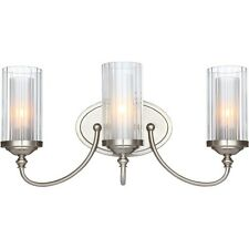 Hardware House 20-9557 Lexington 3 Light Wall Fixture, Satin Nickel NEW
