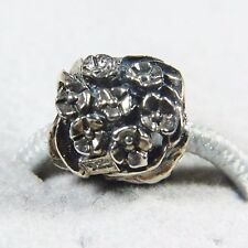Silverado Bouquet of Flowers Sterling Silver Bead Charm Fits Chamilia