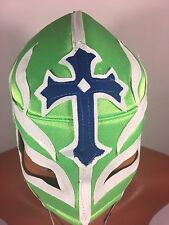 REY MISTERIO WRESTLING-LUCHADOR MASK! BOOYAKA 619!! AWESOME LIME GREEN COLOR!!